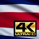 Flag 4K Costa Rica On Realistic Looping Animation With Highly Detailed Fabri - VideoHive Item for Sale