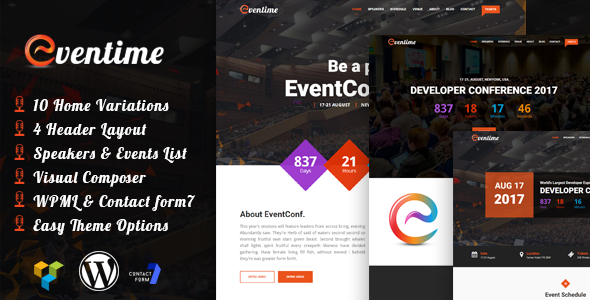 Eventime – Responsive Conference & Event WordPress Theme