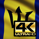 Flag 4K Barbados On Realistic Looping Animation With Highly Detailed Fabric - VideoHive Item for Sale