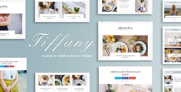 Tiffany - Clean and Simple WordPress Blog Theme - Blog / Magazine WordPress