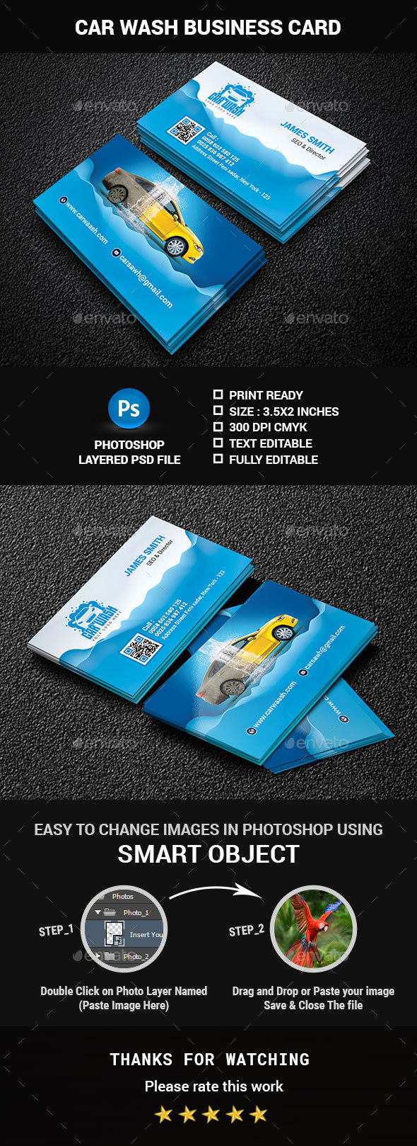 Car Wash Business Card - Creative Business Cards