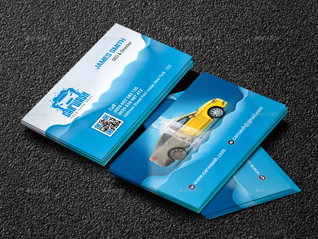 Car wash business card by creative touch graphicriver car wash business card colourmoves