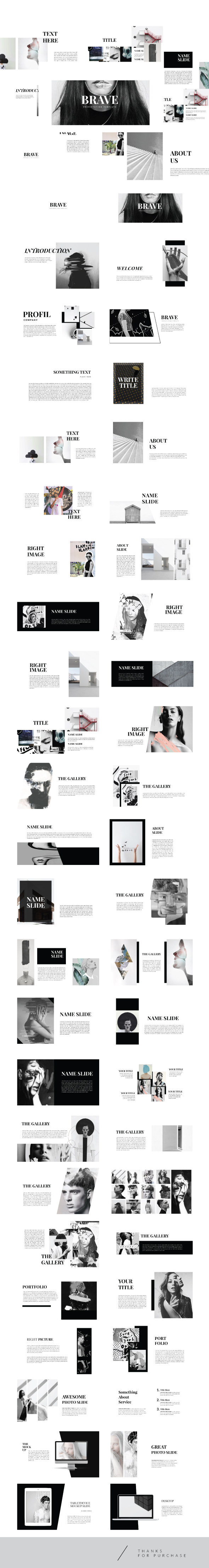 Brave - Clean Keynote Template Creative - Creative Keynote Templates