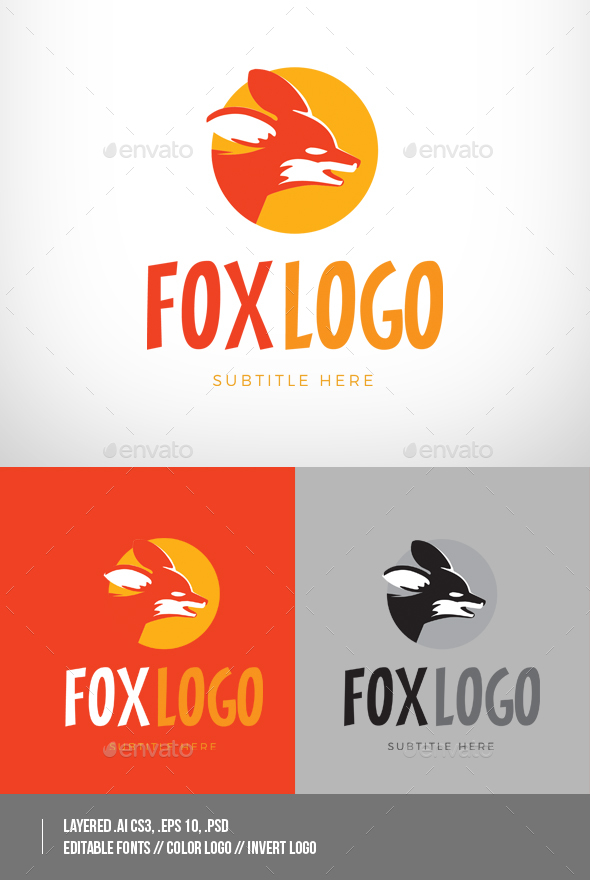 Red Fox Logo - Animals Logo Templates