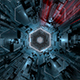 Dark Hexagonal 3D Tunnel - VideoHive Item for Sale
