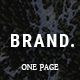 BRAND, - Creative One Page Parallax Joomla Template - ThemeForest Item for Sale