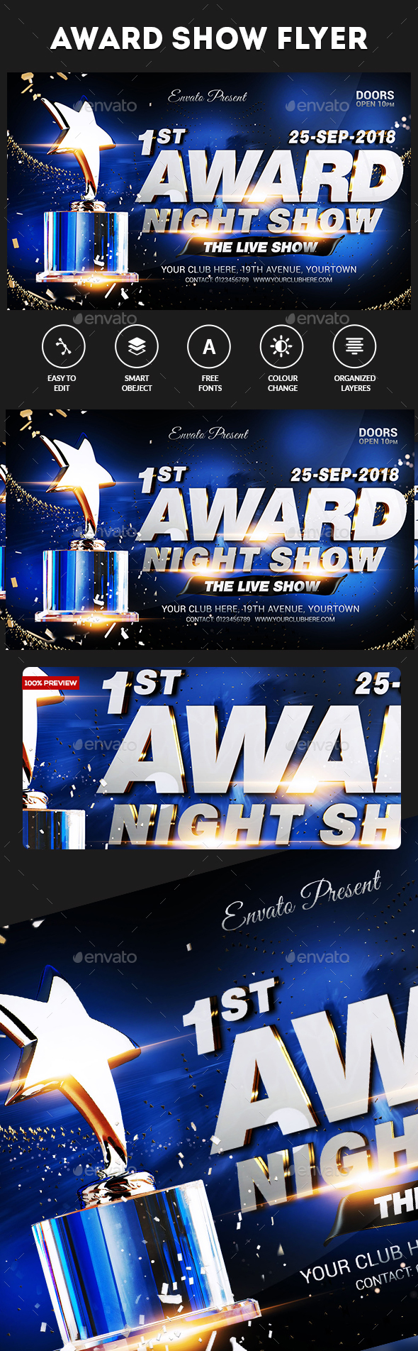 Award Show Flyer - Clubs & Parties Events