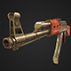 Low-Poly AK-47 (Gold) - 3DOcean Item for Sale