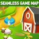 Farm and Forest Tileable Seamless Vertical Game Map - GraphicRiver Item for Sale