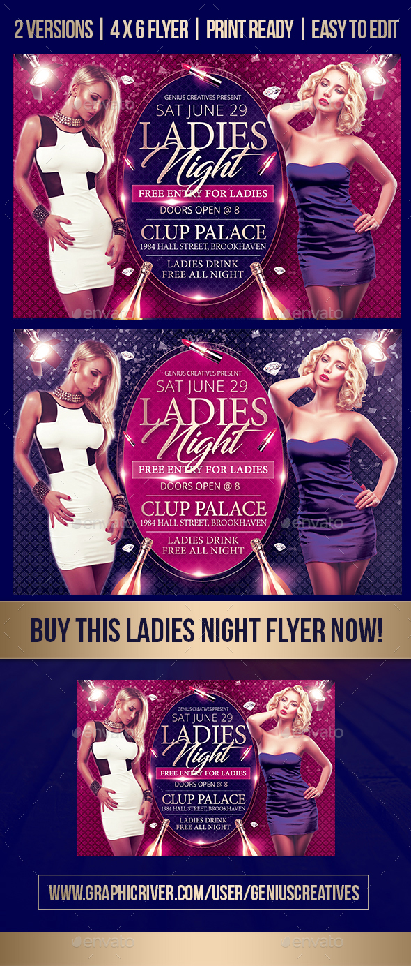 Ladies Night Flyer Template - Print Templates