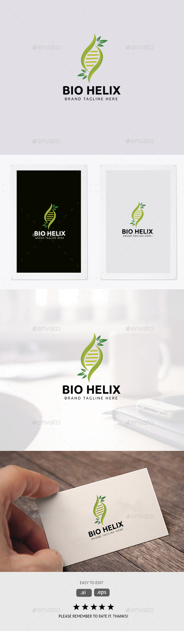 Bio Helix/DNA Logo - Abstract Logo Templates