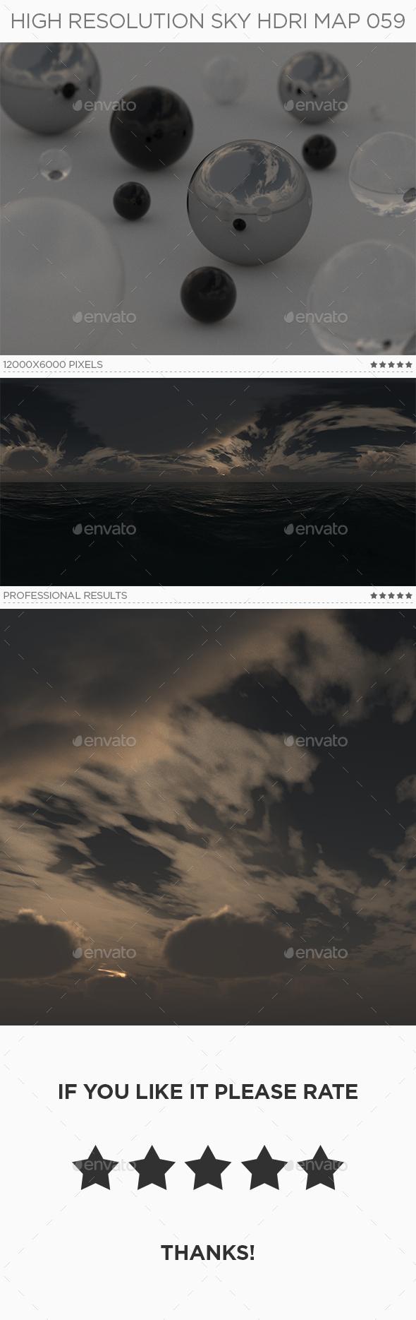 High Resolution Sky HDRi Map 059 - 3DOcean Item for Sale