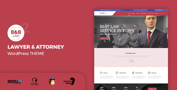 B&B Law - Lawyer & Attorney WordPress Theme