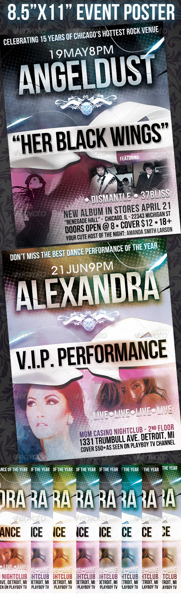 """8.5""""x11"""" Event Flyer - Clubs & Parties Events"""