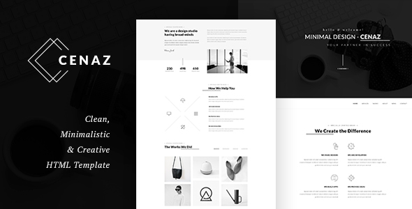 CEZAN – Minimal HTML Template