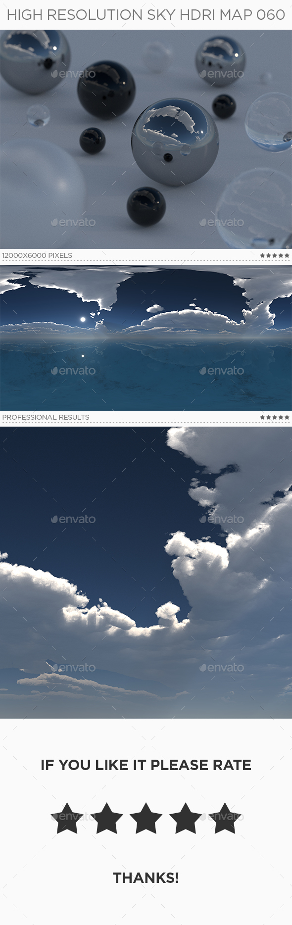 High Resolution Sky HDRi Map 060 - 3DOcean Item for Sale