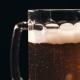 Large Glass Mug with Fresh Beer