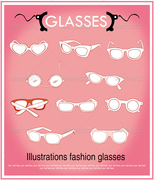 Illustrations fashion glasses - Sports/Activity Conceptual