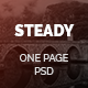 Steady - One Page Multi-Purpose PSD Template