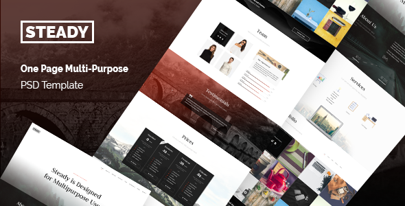 Steady – One Page Multi-Purpose PSD Template