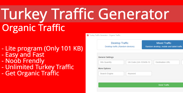 Turkey Traffic Generator - Organic Traffic