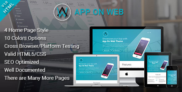 AppOnWeb - App Landing Page Responsive Template