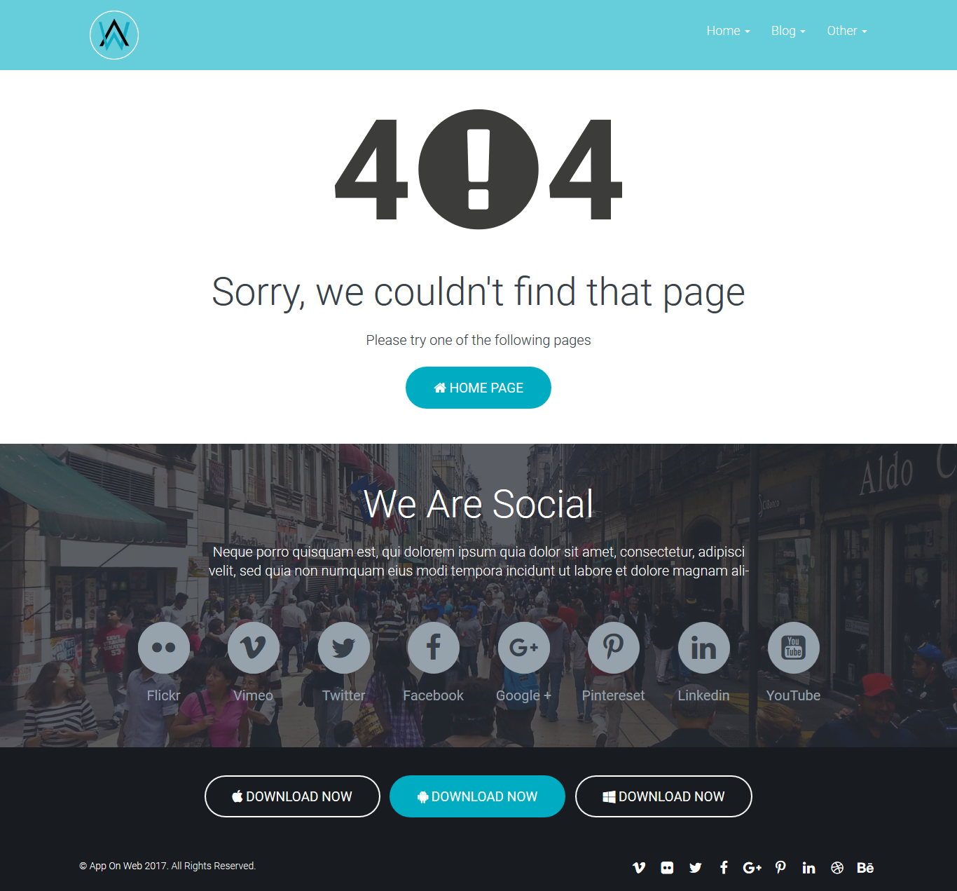 AppOnWeb - App Landing Page Responsive Template by spheretheme ...