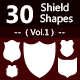30 Shields Photoshop Vector Custom Shapes - GraphicRiver Item for Sale