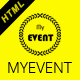 MyEvent- The Upcoming Event HTML5 Responsive Template - ThemeForest Item for Sale