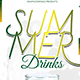 Summer Drinks Flyer Template - GraphicRiver Item for Sale