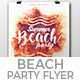 Summer Beach Party Flyer Nulled