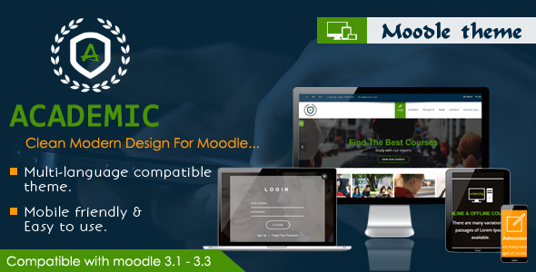 Academic – Responsive Moodle Theme nulled
