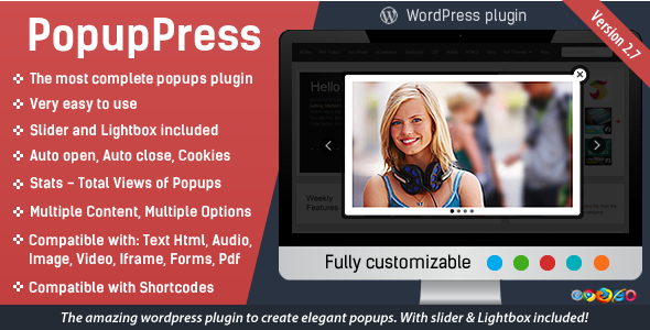 Popup Press - Popups with Slider & Lightbox for WordPress - CodeCanyon Item for Sale