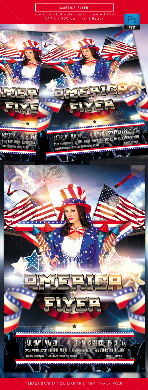America Themed Flyer - Events Flyers