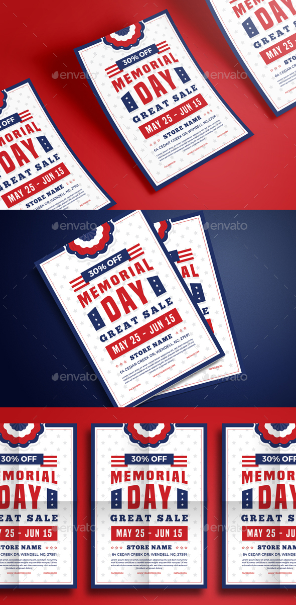 Memorial Day Sale Flyer - Events Flyers