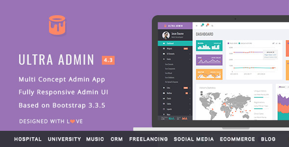 Ultra Admin - Multi Concept Admin Web App with Bootstrap - Admin Templates Site Templates