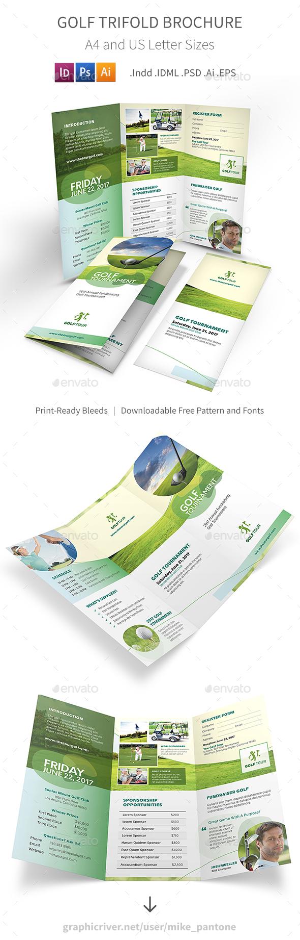 Golf Trifold Brochure 6 - Informational Brochures