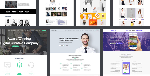 MERYT - Multipurpose PSD Template - PSD Templates