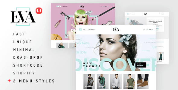 Eva - Responsive Drag&Drop Shopify Theme - Shopify eCommerce