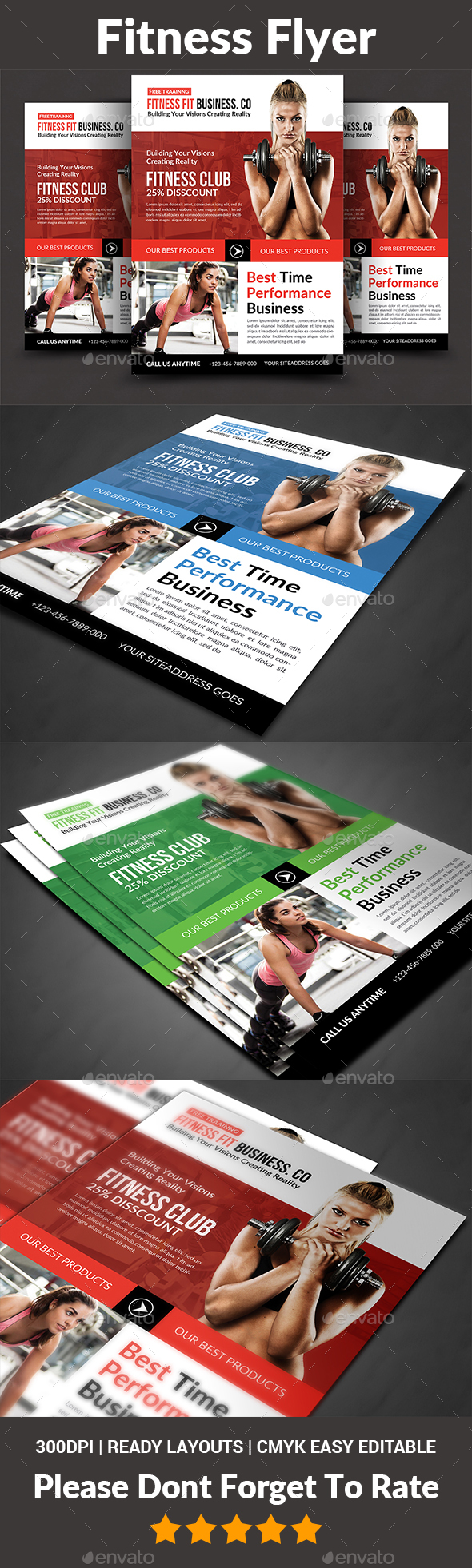 Fitness Flyer - Corporate Flyers