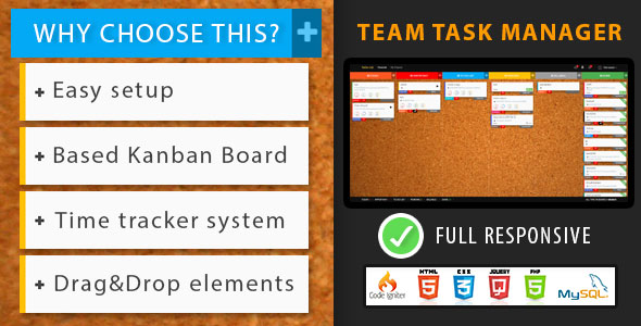Team Task Manager - Kanban - CodeCanyon Item for Sale