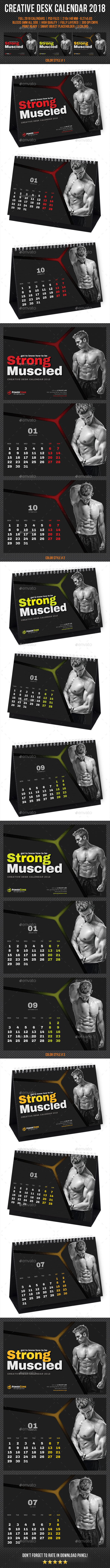 Creative Desk Calendar 2018 V25 - Calendars Stationery