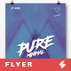 Pure Minimal Party Flyer / Poster Template A3
