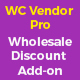 Wholesale price discount plugin addon for wc vendor pro - CodeCanyon Item for Sale
