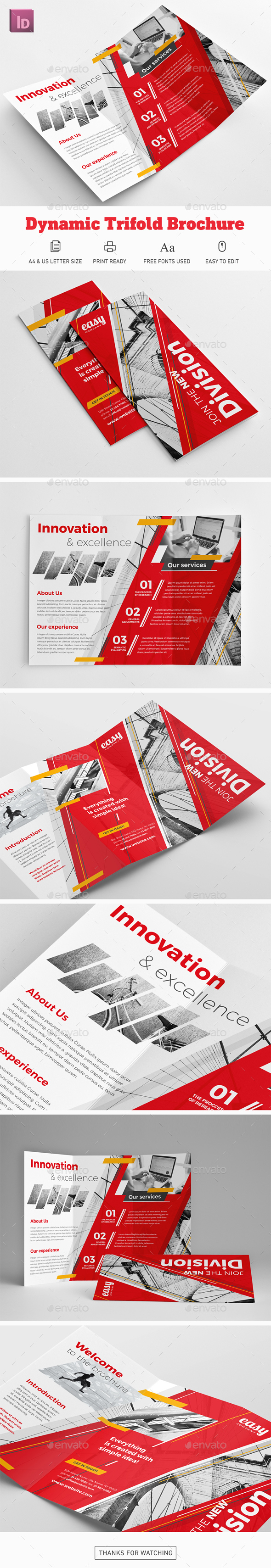 Dynamic Trifold Brochure - Corporate Brochures