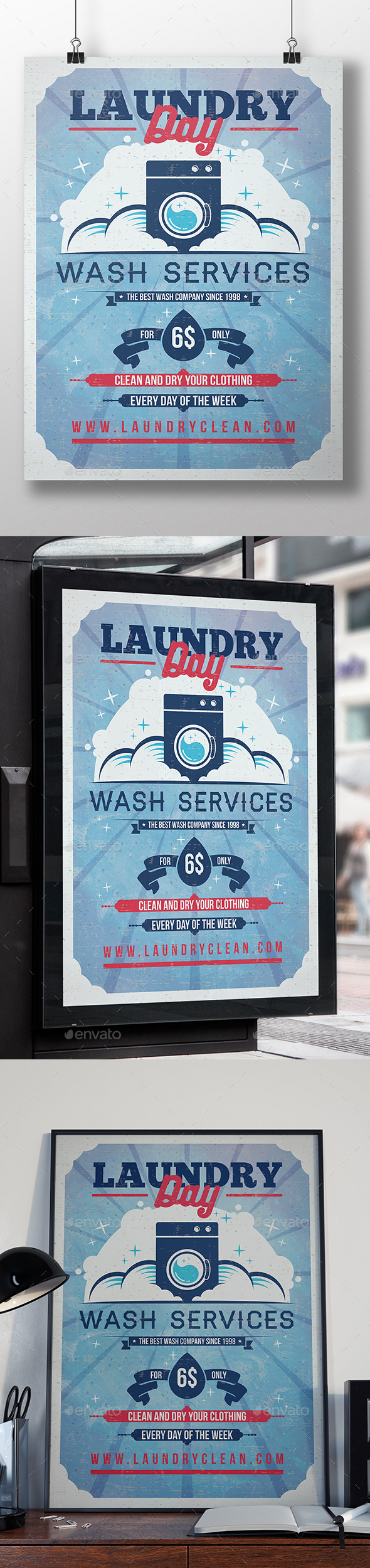 Laundry Flyer Template - Miscellaneous Events