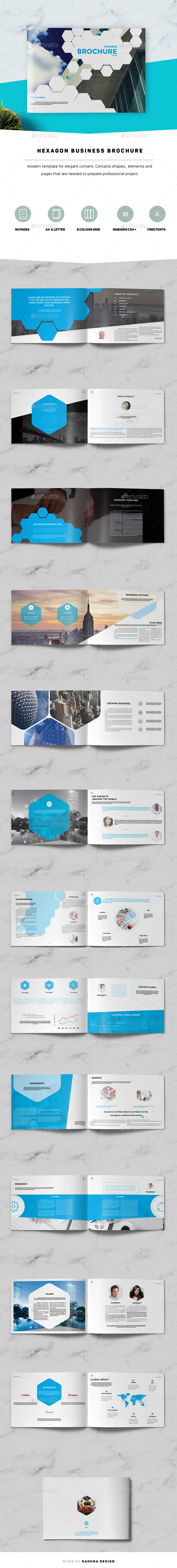 Hexagon Business Brochure - Corporate Brochures
