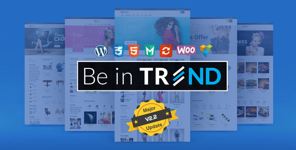 Trend - Multipurpose / Fashion / Restaurant / Construction / Modern Shop WooCommerce WordPress Theme
