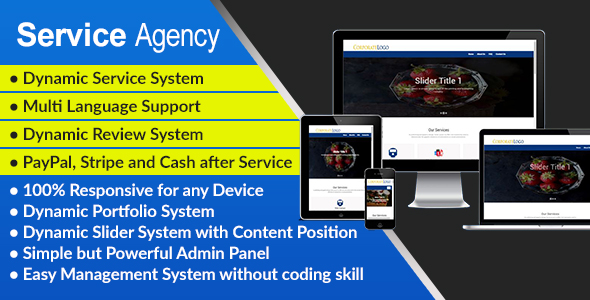 Service Agency - Responsive Service Agency Management System and Website for any Service Provider - CodeCanyon Item for Sale