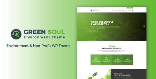 Green Soul - Environment & Non-Profit WordPress Theme - Environmental Nonprofit